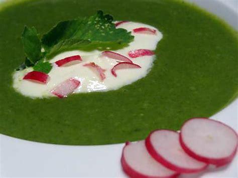recette de soupe de fanes de radis au ch 232 vre