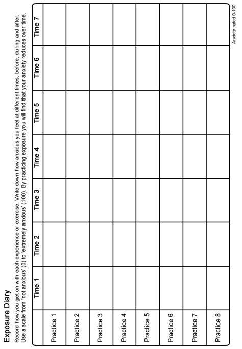 moodjuice exposure diary   guide