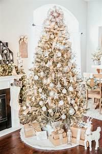 Silver, U0026, Gold, Christmas, Tree