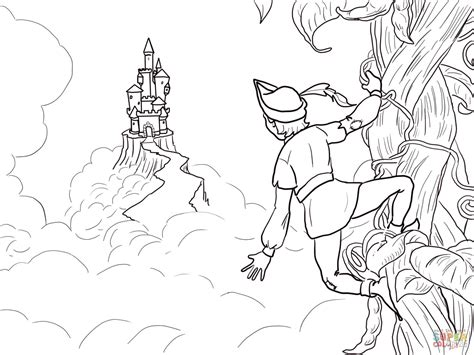 Jack And The Beanstalk Castle Coloring Page Free
