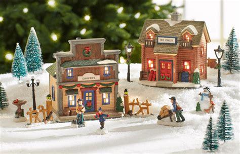 christmas village decoration ideas elitflat