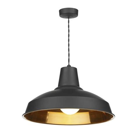 insulated black metal ceiling pendant light