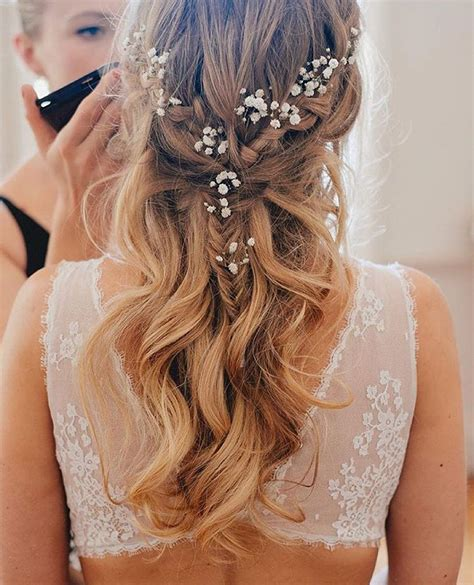 33 half up half down wedding hairstyles to try koees blog