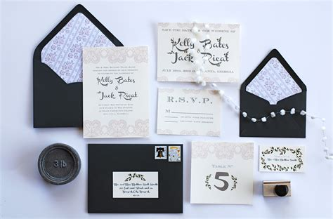 invitation for a vintage style wedding rustic wedding chic