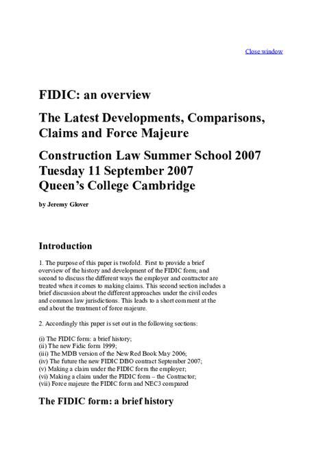 (DOC) FIDIC an overview | Spinoja Sahoo - Academia.edu