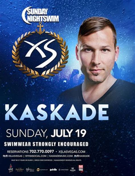 Xs Nightswim Dress Code Kaskade Sunday Nightswim At Xs Nightclub On Sunday July
