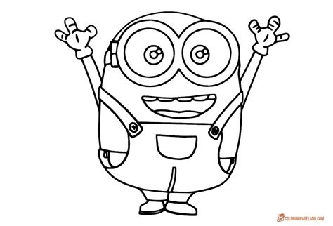 Breakthrough Bob The Minion Coloring Pages For Kids Free