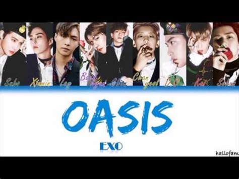 exo oasis exo 엑소 오아시스 oasis han rom indo color coded