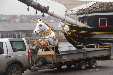 Ship With Three Figureheads Frigate Unicorn Hms