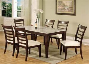 furniture dining room modern dining set with square With dining room tables with granite tops
