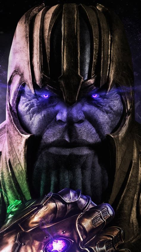 wallpaper thanos avengers infinity war  creative