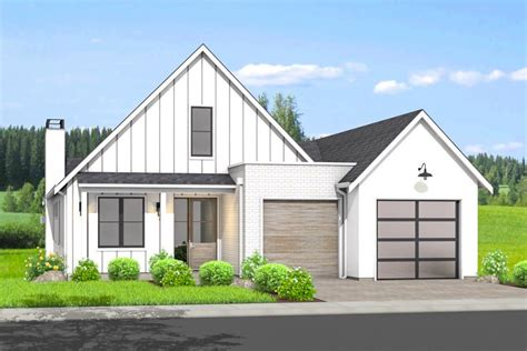 Modern Ranch Home Plan with Option for Walk Out Basement