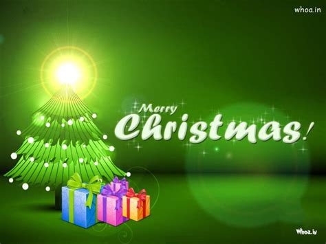 merry christmas green hd wallpaper