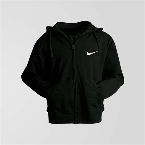 Hoodie Zipper Sweater Logo Nike black fleece nike small logo zipper hoodie thestore pk