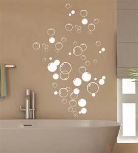 90x bubbles bathroom vinyl wall stickers shower door With wall art stickers for bathrooms