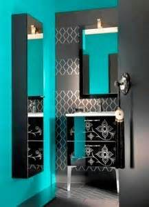black and turquoise bathroom idea turquoise pinterest