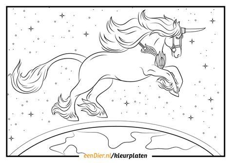 Kleurplaat Acanthus by Unicorn Kleurplaat Printen Artismonline Nl
