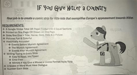 Hitler Comic-strip Assignment Supported By Woodland School