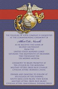 commissioning invitation go navy pinterest marines With formal military wedding invitations