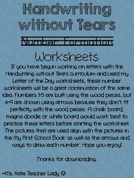 handwriting  tears number worksheets  ms katie