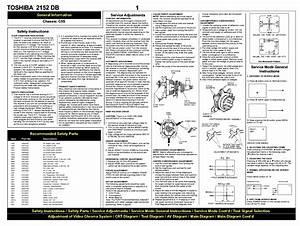 Toshiba Color Tv T2152db Schematic Service Manual Download