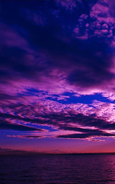 purple sky  sunset wallpaper  wallpaper