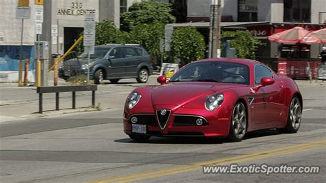 Alfa Romeo 8c Spotted In Toronto, On, Canada On 07/16/2011