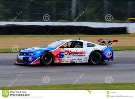 Pro Ford Mustang Race Car On The Course Editorial