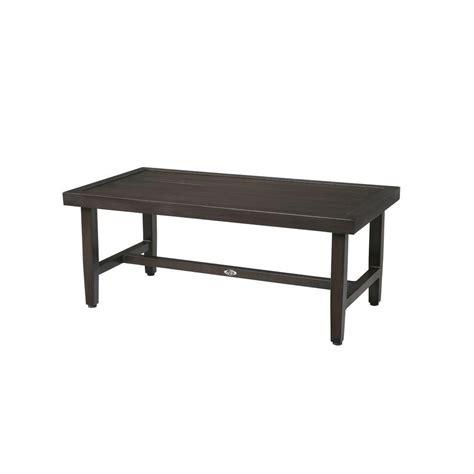 black metal patio coffee table hton bay woodbury metal outdoor patio coffee table