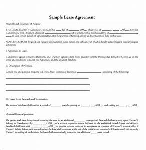 15 land lease agreements samples examples format With simple land lease agreement template