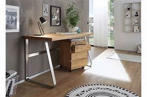 Meuble Bureau Design : bureau design en bois massif pour bureau ~ Melissatoandfro.com Idées de Décoration