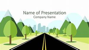 Technology Roadmap Powerpoint Template Road To City Powerpoint Template Presentationdeck Com