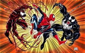 Carnage Vs Venom Vs Spiderman - wallpaper.