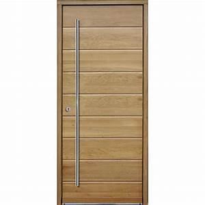 porte d39entree en bois massif a isolation thermique With portes d entree en bois massif