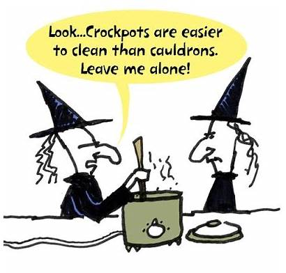 Funny Halloween Fall Pot Humor Cooker Witch