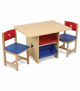 Table Enfant Avec Rangement : table et 2 chaises enfant bleu rouge kidkraft 26912 ~ Melissatoandfro.com Idées de Décoration
