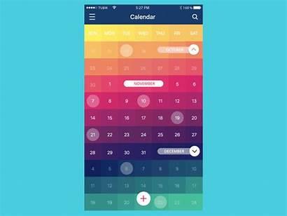 Calendar App Animation Ui Css Mobile Inspiration