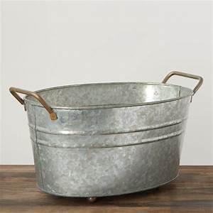 Vintage, Inspired, Galvanized, Wash, Tub, -, Baskets, Buckets, U0026, Boxes