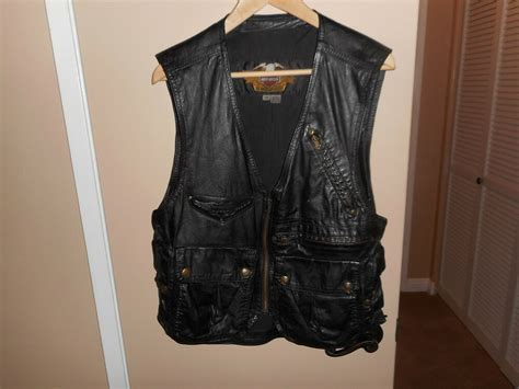 Vintage Men's Harley Davidson Willie G Black Leather Cargo