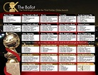 2015 Golden Globe Awards printable ballot | The Gold ...
