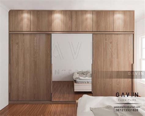 lemari pintu sliding kaca design minimalis  klien