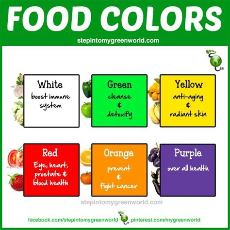 cuisine meaning food color variety benefits info infoographics
