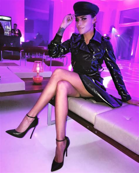 sophia thomalla super hot im sexy lack outfit