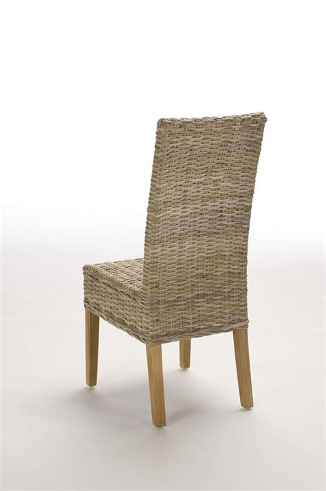 chaise kubu chaise en rotin gris tressé kubu brin d 39 ouest