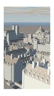 3D London city model 40.3 km2 with 40,000 structures ...