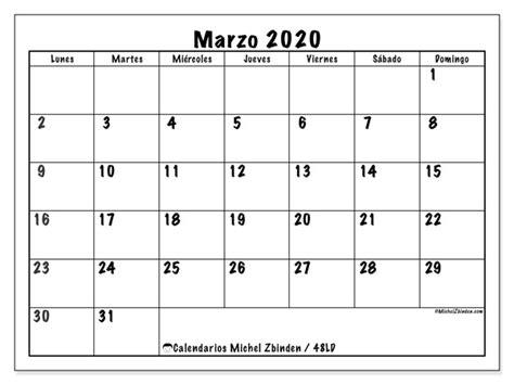 foto de Calendario marzo 2020 48LD Michel Zbinden ES