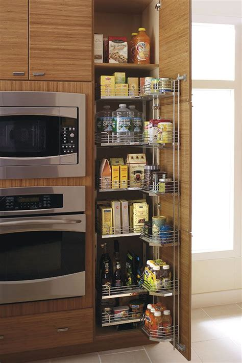 tall pantry pullout tandem cabinet features door