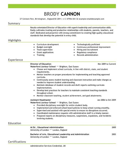 Director Of Career Services Resume by Best Director Resume Exle Livecareer