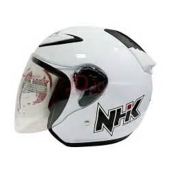 Half Helm Nhk R6 R 6 White jual nhk r6 white helm half l almerhelmet