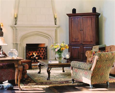 glamorous corner armoire  living room traditional